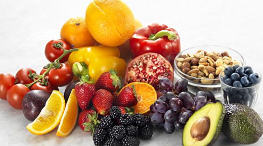 Frukt, grønt og nøtter inneholder masse antioxidanter