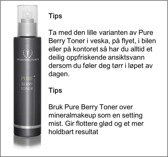 Pure Berry Toner tips